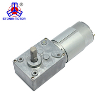 DC 12V 15RPM 8mm Shaft High Torque Turbine Worm Geared Motor