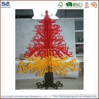 new custom carved wood crafts christmas decoration ornaments natural wood christmas tree