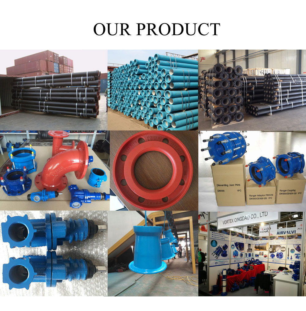 centrifugal  cast ductile iron pipe DI pipe