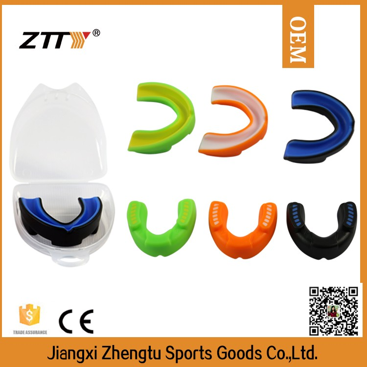 cheap wholesale printed logo sports equipments boxing mouth guards