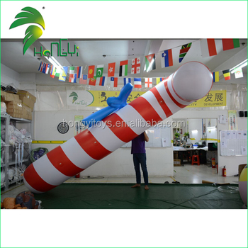 Hot Selling Cheap Christmas Inflatable Candy and Crutch Balloon