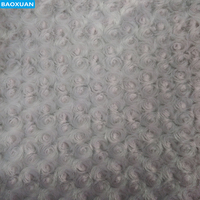 China factory cheap 100% Polyester rose shape fleece fabric