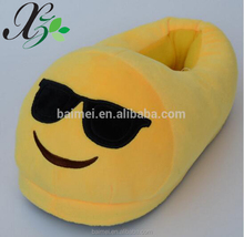 Fluffy Cute Plush Indoor Emoji Slipper Plush Sunglasses Sleeper Shoes