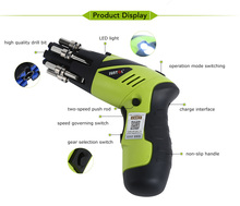 SUNTOL Multifunction Electric Screwdriver 3.6V Lithium-ion Battery Electric <strong>Drill</strong>