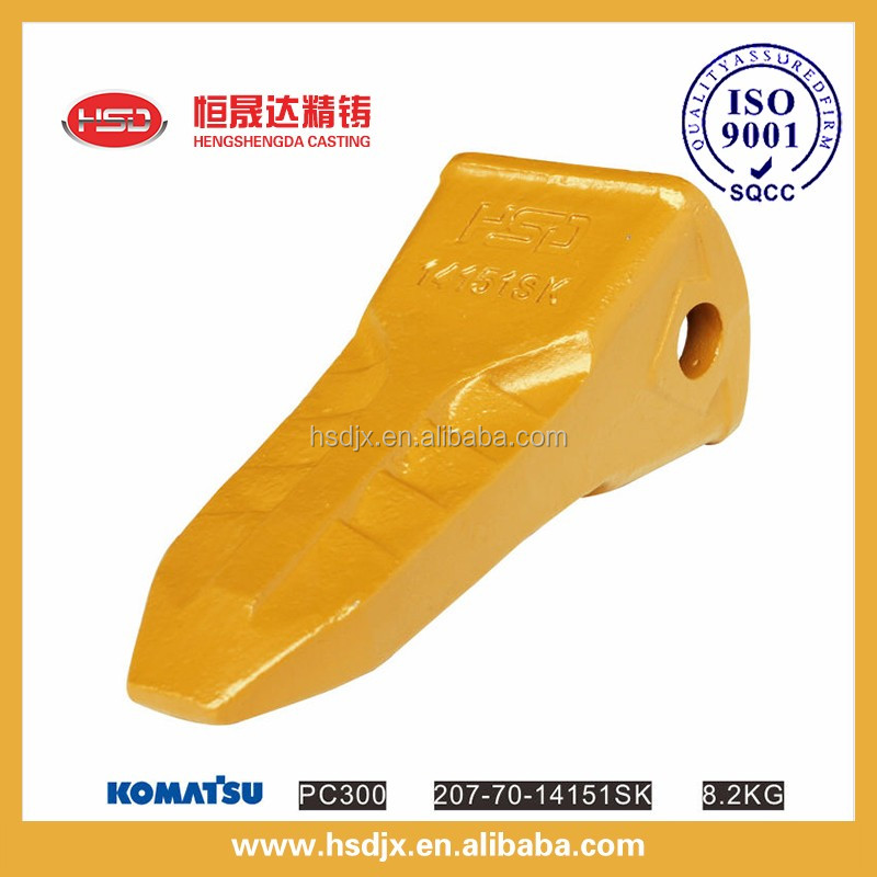 China factory supply HSD brand construction machinery parts excavator bucket teeth/tooth with alloy steel material on sale