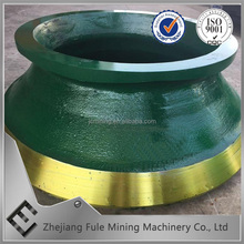 High manganese steel casting cone crusher spare wear parts bowl