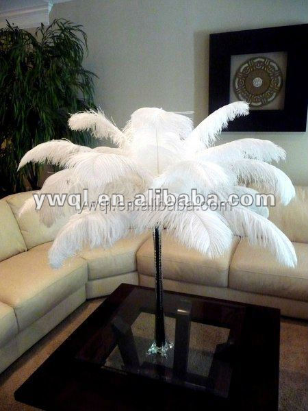 large size white ostrich feather for wedding central decoration