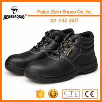 2016 rhino black leather brand steel toe high quality industrial safety shoe manufacture