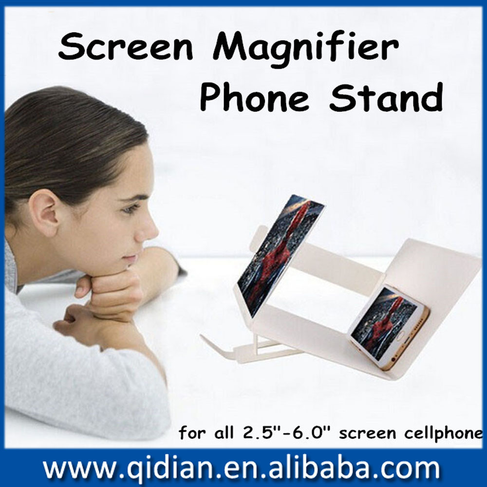 2016 most popular cellphone mobile phone screen magnifier for for iphone 4/4s/5 ,Phone enlarge screen stand