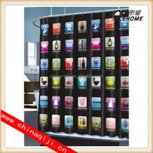2014 new style printed peva anime shower curtain