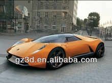 3D PET material lenticular effect orange luxury sports car pictures