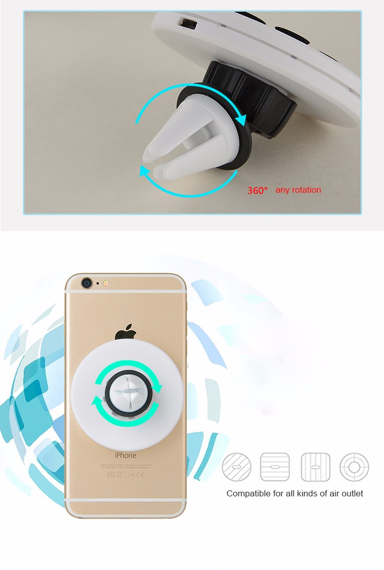 Portable 360 degree rotation Wireless Charging Mobile Phone Stand Car Charger