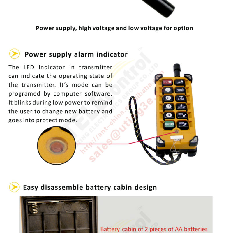 Electric Chain Hoist For Crane F23-a++ Wireless Industrial Remote ...