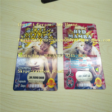 Red Mamba, Black Mamba Plastic 3d Card For Man Power Capsule Pill Packaging / Black Mamba Card
