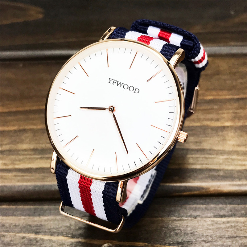 YFWOOD Ladies Fashion Watch Wrist Zinc Alloy Watch Case Waterproof High Quality Watch