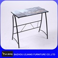 Free sample italy design glass top computer table with prices