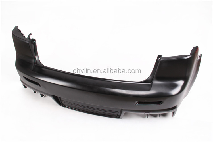 High quality PP Material car rear bumper Diffuser cover for Lancer-ex EVO Style