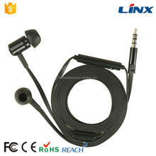 Flat cable in-ear earphone with mic