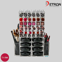 2016 fashion wholesale best acrylic cosmetic storages / make up accessories design