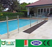 Best Price Beautiful Design Aluminium Tempered Glazed Glass Pool Fence