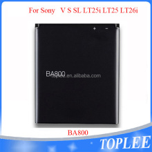 1750mAh 3.7V mobile phone battery BA800 sell used cell phone batteries For sony Ericsson V S SL LT25i LT25 LT26i