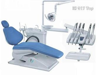 Top mounted tool tray dental chair with simple dental equipment KJ-917