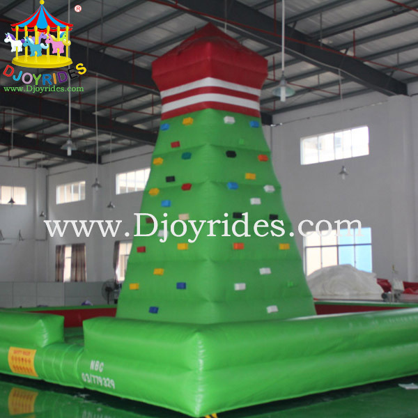 outdoor inflatable sports games inflatable climbing cliffs inflatable rock climbing wall for sale