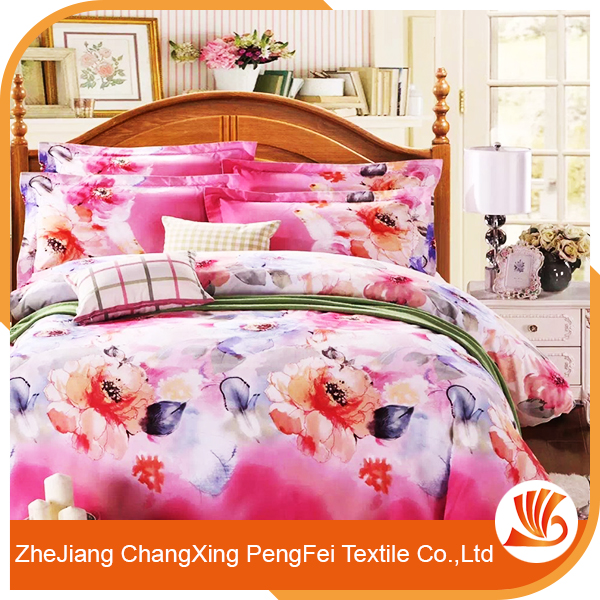 Fancy Polyester customized modern bed sheet sets fabric