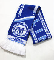 colorful embroidery fringe fashion knitting wholesale sports football scarf team manufacturer