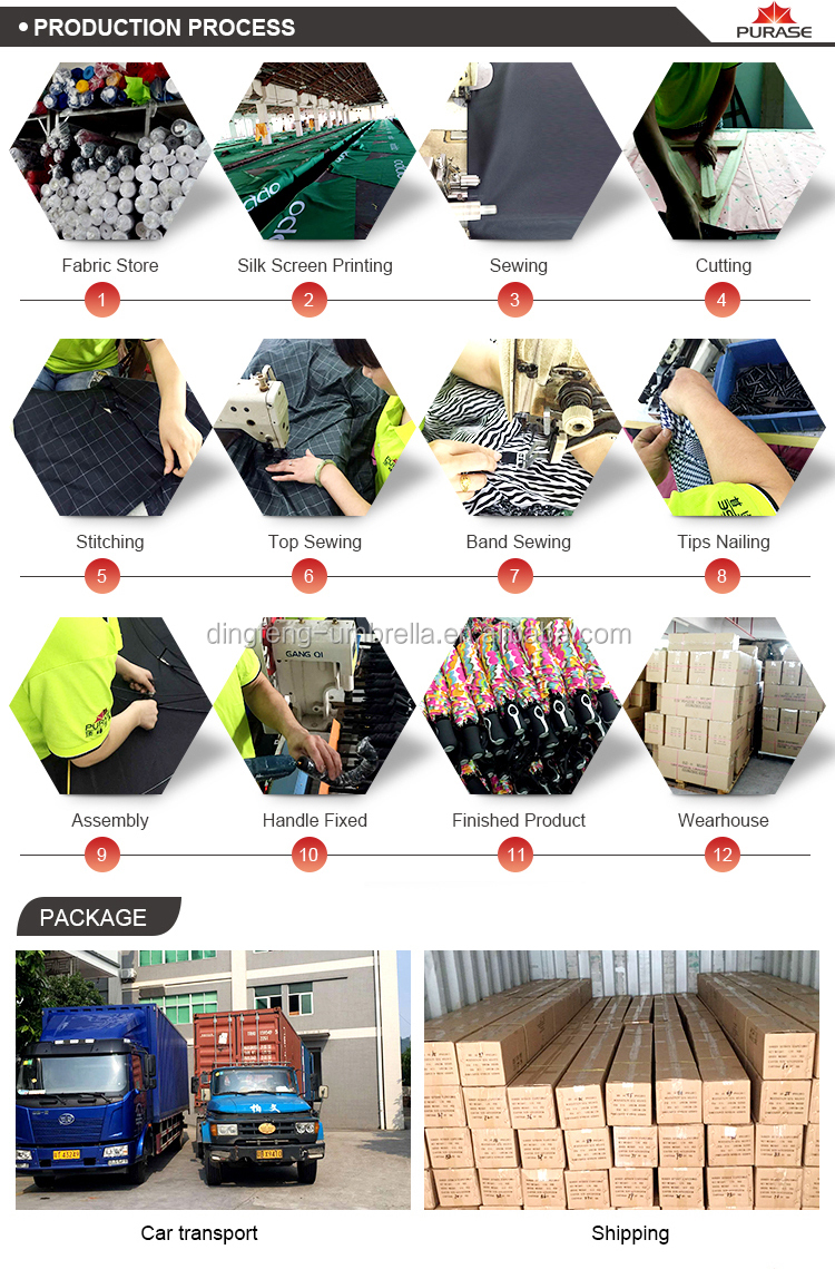 Dingfeng factory custom Windproof Double Layer Car Umbrella Reverse Open Inverted Umbrella with C handle