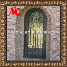 Front Iron Entry Door with Glass