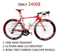 Time RXRS Carbon Bike complete carbon bicycles road race bike red color cheap full carbon bike with ultegra 6800 groupset