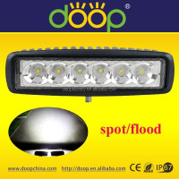 DOOP Wholesale IP67 6.3inch 18W Marine ATV Mini LED Light Bar Boat LED Light