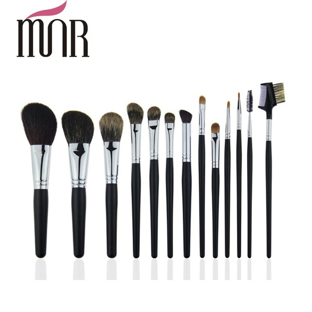 High quality nature goat hair good pony hair air makeup brushes kit