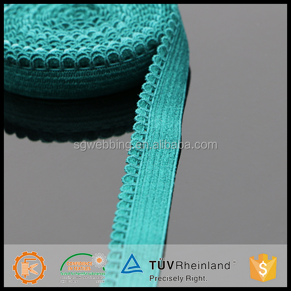 Shangang high tenacity corchet picot waist band elastics for custom