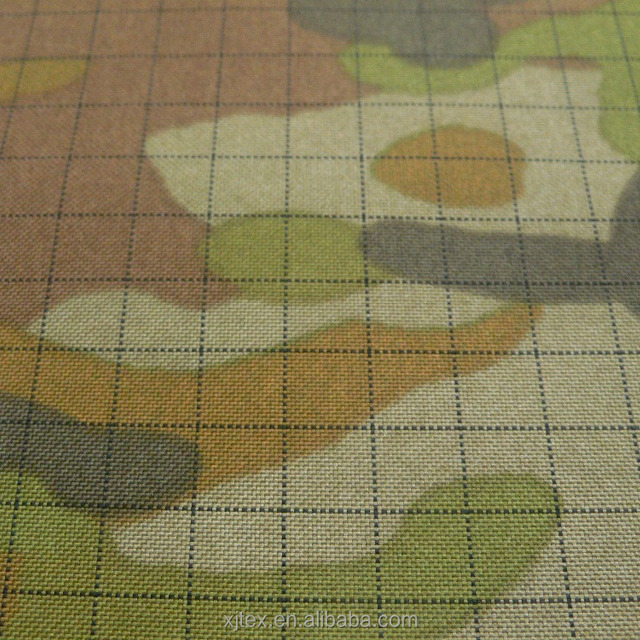 polyester army camouflage fabric with anti-static lines