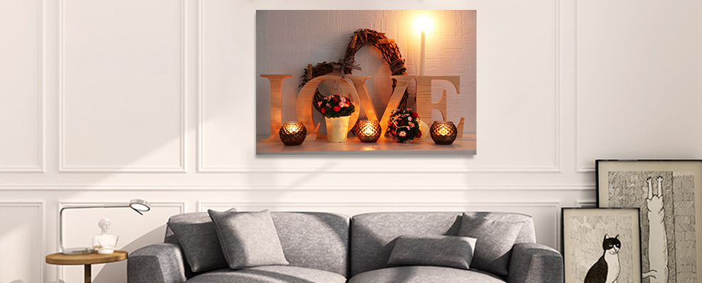 Modern beautiful canvas painting for home and hotel decoration