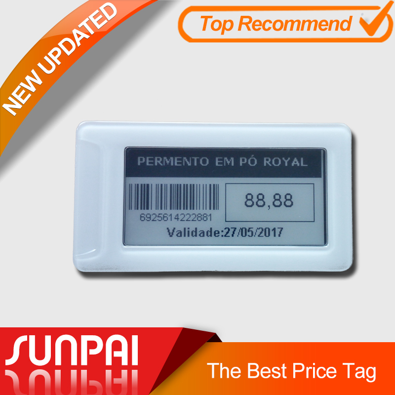 Find out why uses wireless electronic price tag with 2.1inch e-ink display