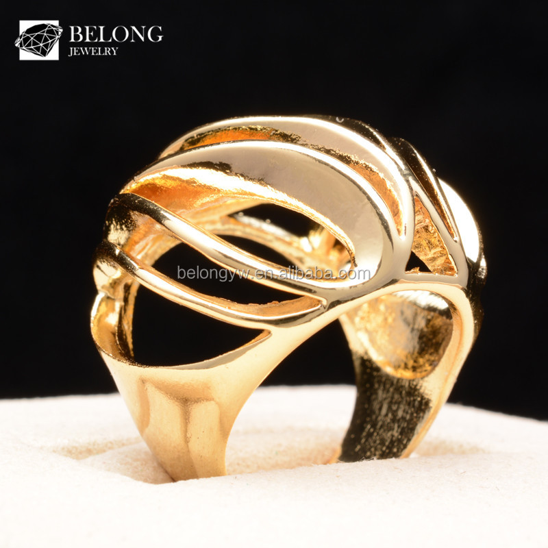 BLDR0032 jewelry manufacturer hollow loose shape man ring gold