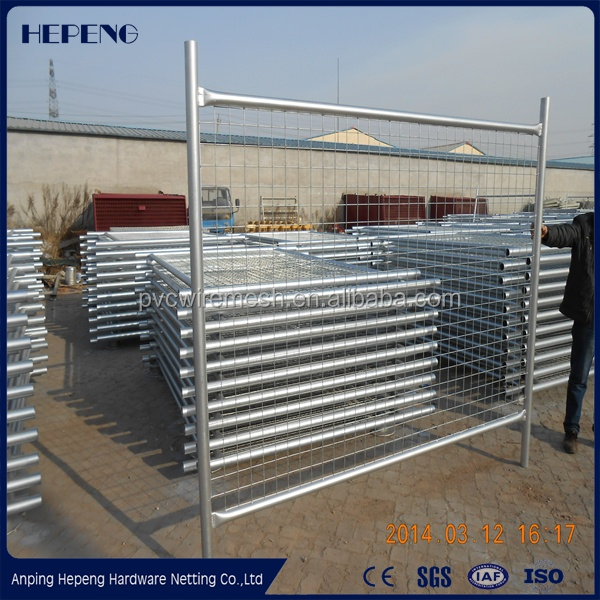 Galvanized iron wire round tube temporary fence