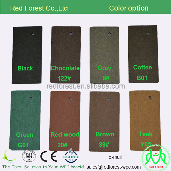 good price white/gray/black/coffee popular colors wood plastic composite WPC deck