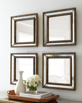 Beaded Square home decor wall tray Mirror