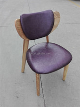 Japanese restaurant wood chair with purple pad FOH-BCC02