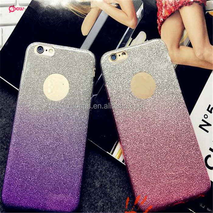 Fashion 2 in 1 TPU Shimmering Glitter Phone Case for iphone 6