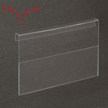 China Customized 1 MM PVC Transparent Hard Plastic Card Holder Price Tags Sign