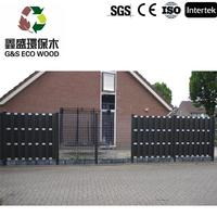 Waterproof Aani-UV wood plastic composite (wpc) picket fence with great price