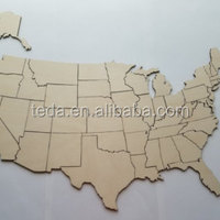 Kid Education Wooden Map Puzzle Wood