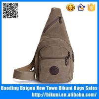 Durable canvas long single strap shoulder bags casual cross body chest bag