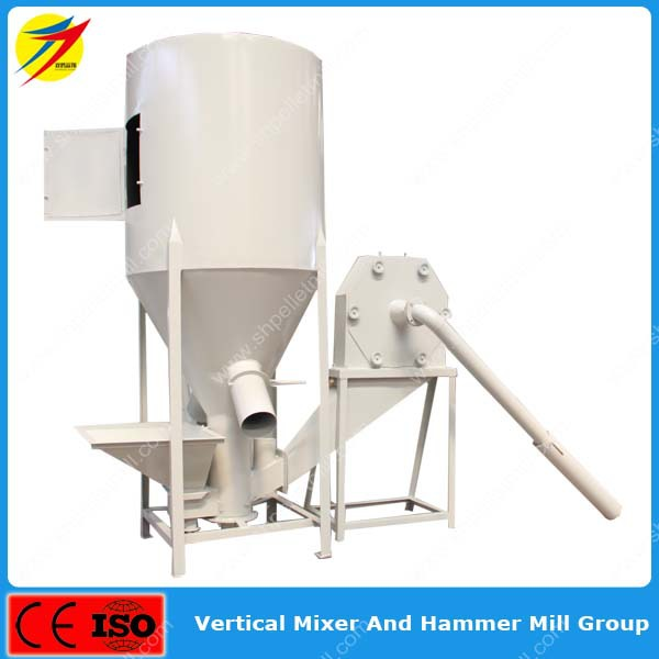 Ce approved factory price animal feed mixer grinder machine