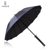 Black windproof umbrella 24inch umbrella tulip umbrella